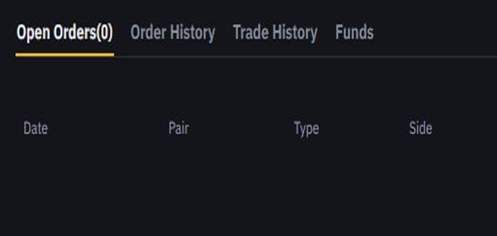 پنجره Trade History : فقط معاملات کامل شده شما نمایش داده میشود؛ چه مربوط به خرید ارز باشد چه فروش تفاوتی ندارد.