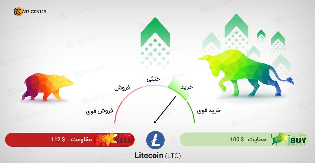 تحلیل تصویری تکنیکال قیمت لایتکوین 19 دسامبر (29 آذر) اختصاصی ارز سنتر